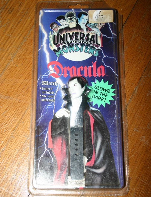 Vintage Universal Monsters Glow in Dark Dracula Watch NIB
