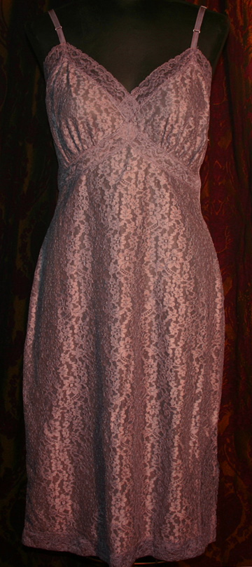 Vintage Van Raalte Dyed Purple Full Slip Dress 34