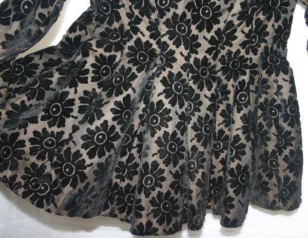 Antique Victorian Black Velvet Ladies Mourning Jacket