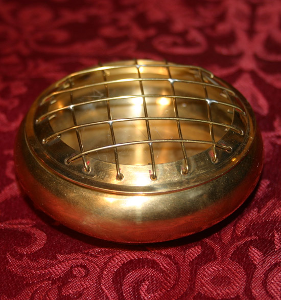 Brass Charcoal Screen Resin Incense Burner