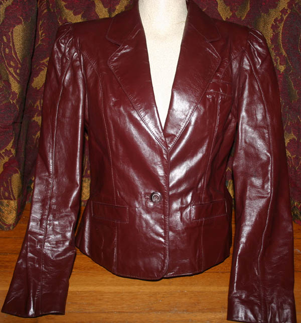 Vintage Burgundy Wilson's Leather Puff Jacket