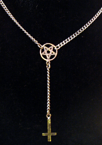 Satanic Rosary Inverted Cross Pentagram